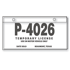 new ca law requires temporary plates for newly purchased cars streetsblog california. Black Bedroom Furniture Sets. Home Design Ideas