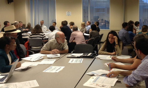 """Attendees at workshops on previous versions of CalEnviroScreen grapple with how to define a """"disadvantaged community."""" Photo: Melanie Curry/Streetsblog"""