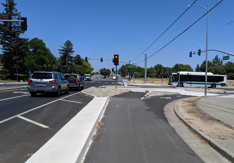 In Davis, a New Bike/Ped Safety Project Is Blamed for Heavy Traffic
